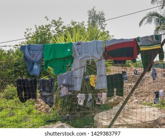 Laundry refugee camp, middle east