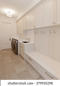 Laundry room in new luxury house