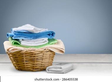 Laundry, Towel, Laundry Basket.