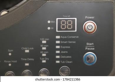 Laundry waching machine program panel