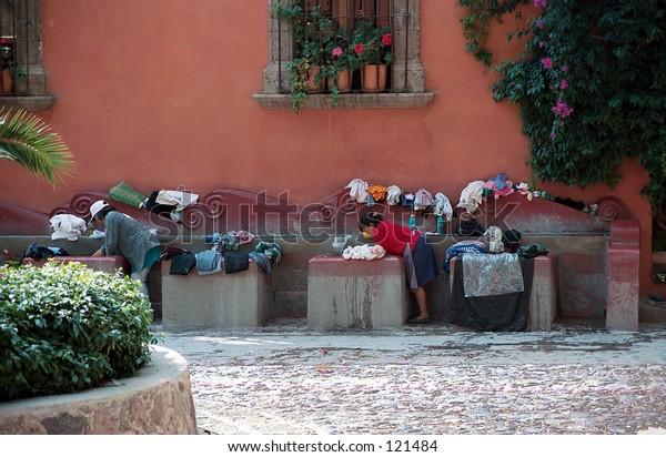 Laundry women, San Miguel de Allende, Mexico