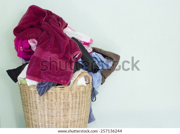 laundry,washing fabric in the basket