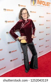 Laura Ann Tull attends INFOList.com Red Carpet Re-Launch Party & Holiday Extravaganza! at SKYBAR at the Mondrian Hotel, Los Angeles, California on December 5th, 2018