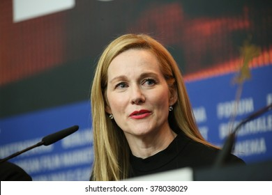 Laura Linney  attends the 'Genius' press conference during the 66th Berlinale International Film Festival Berlin at Grand Hyatt Hotel on February 16, 2016 in Berlin, Germany.