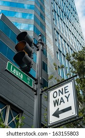 Laura street in downtown Jacksonville, Florida.