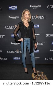 """Laura Vandervoort attends 19th Annual Horror Film Festival - Screamfest - """"Rabid"""" Los Angeles Premiere - Arrivals at TCL Chinese Theatre, Hollywood, CA on October 16, 2019"""