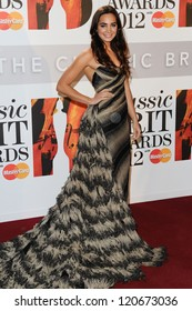Laura Wright arriving for the Classic Brit Awards 2012 at the Royal Albert Hall, London. 02/10/2012 Picture by: Steve Vas