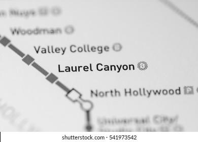 Laurel Canyon Station. Los Angeles Metro map.