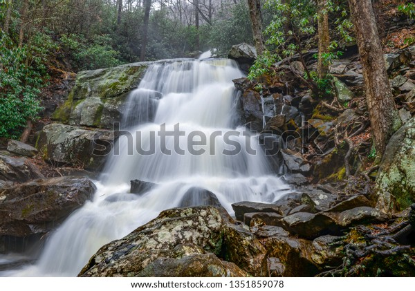 Laurel Falls in the Smoky Mountains, Tennessee.