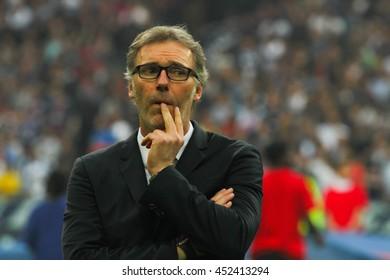 Laurent Blanc - The final game of Coupe de France season 2015-2016 was between Paris Saint Germain and Marselle. Paris St. Germain was the winner. It was in May 2016 at Stade de France, Paris.