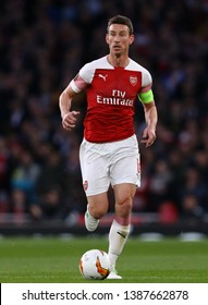 Laurent Koscielny of Arsenal - Arsenal v Valencia, UEFA Europa League Semi Final - 1st Leg, Emirates Stadium, London (Holloway) - 2nd May 2019