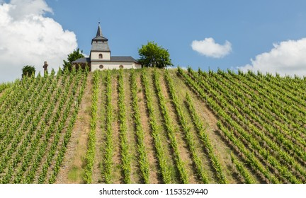 Laurentius Chapel at Trittenheim Panorama Germany.