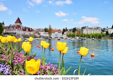 Lausanne in spring