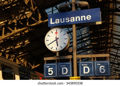 Lausanne Station of the evening