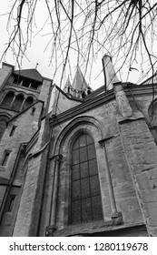 Lausanne, Switzerland, December 2018 - The Cathedral of Notre Dame of Lausanne (Lausanne Cathedral), Exterior.