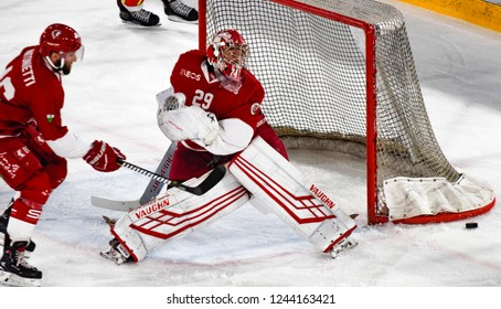 Lausanne - SWITZERLAND - November 23, 2018 : The Ice Hockey Match between Lausanne Hc and Zurich Sc on the 21st day of the 2018/19 season of the Swiss Naional League