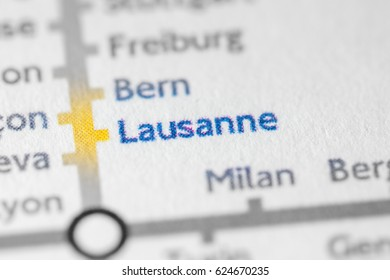 Lausanne, Switzerland on a geographical map.