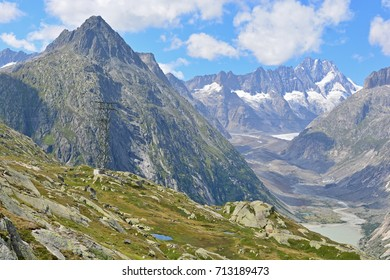The Lauteraarhorn above the Lauteraar glacier in the Bernese Alps close to Interlaken, in Switzerland