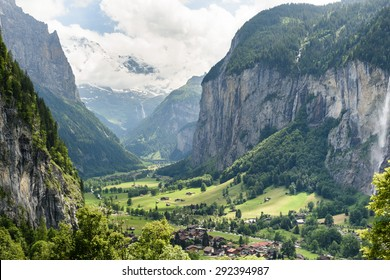 The Lauterbrunnen valley, near Interlaken in the Bernese Oberland, Switzerland.