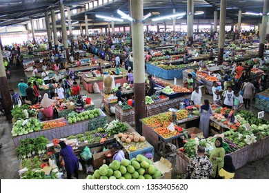 Lautoka, Fiji - June 22 2015: A local vegetables market in Lautoka Fiji.