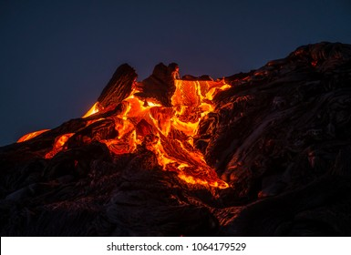 lava breakout in the early morning hours