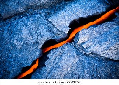 Lava crack at Hawaii Volcano National Park