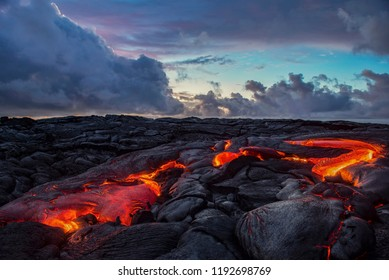 Lava in early morning light