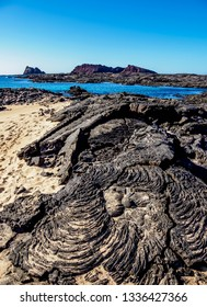 Lava field in Sullivan Bay, Santiago or James Island, Galapagos, Ecuador