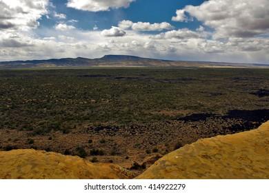 Lava Fields of El Malpais National Monument, New Mexico. April 26, 2016.