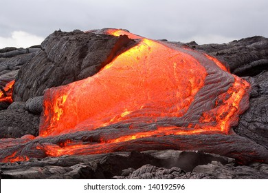 Lava flow in Hawaii