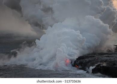 Lava Flow into Ocean