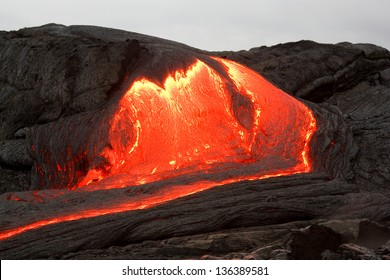Lava flow of Kilauea volcano