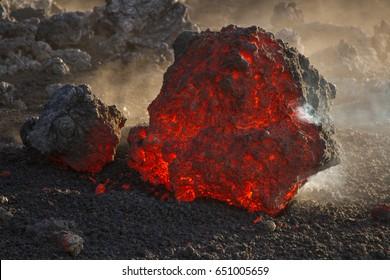 Lava flow - Volcano Etna