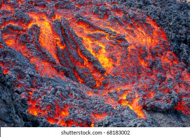 Lava Flowing in Guatemala