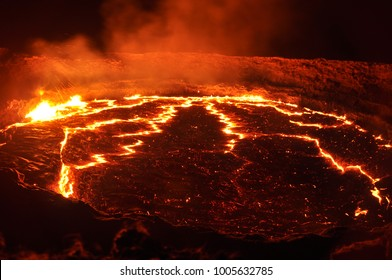 lava lake of the volcano