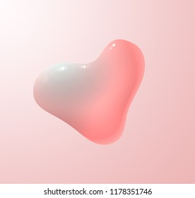 Lava lamp pink heart liquid vector background.
