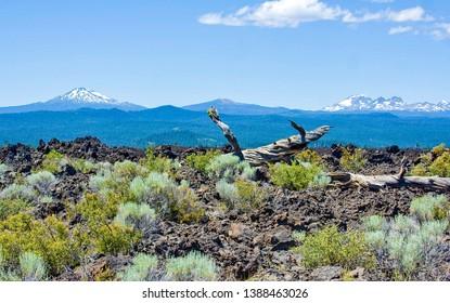 Lava Lands Landscape Vista Newberry National Volcanic Monument Oregon