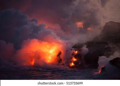 Lava Meets Ocean on Big Island
