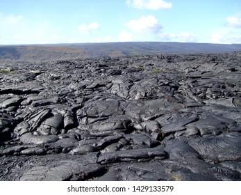 Lava on Big Island on Hawaii Volcanoes National Park.