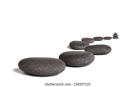 Lava stones, isolated on white background