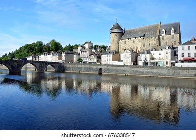 LAVAL, FRANCE - JUNE 26, 2017: Laval is a medieval town that lies on the threshold of Brittany and is situated on the middle course of the Mayenne river.