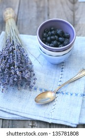 lavender with blueberry