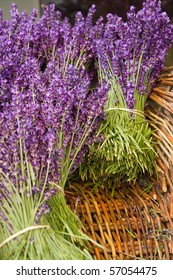 Lavender Bunches in basket