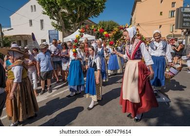 Lavender festival in Valensole, France. 16 July 2017