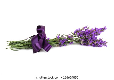 Lavender flower isolated on white background