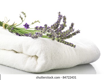 Lavender flowers concept spa and beauty