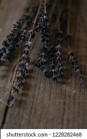 Lavender flowers on wood