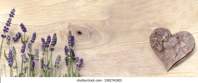 Lavender with heart free space