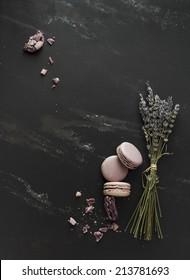 Lavender macaroons