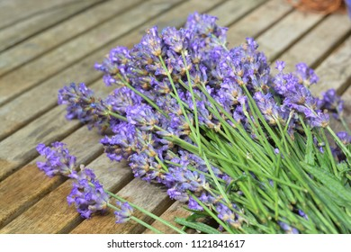Lavender on a wooden table